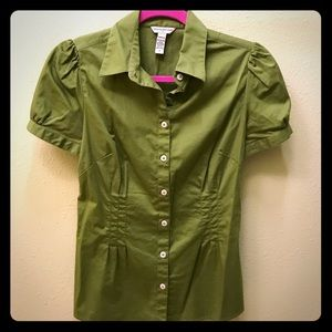 Olive green Banana Republic button down.